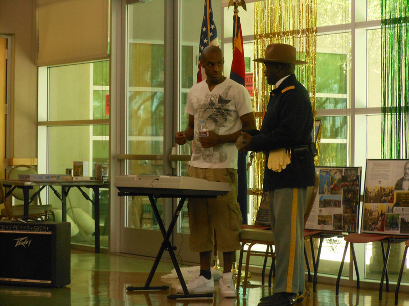 June 19, 2012                 1st Annual Juneteenth Celebration<br />                                              Adam Diaz Senior Center, Phoenix<br /> <br /> Cmdr Fred Marable (Buffalo Soldier) and D.J.
