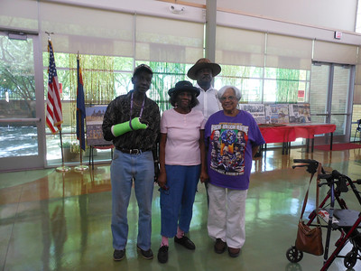 June 19, 2012              1st Annual Juneteenth Celebration                                       Adam Diaz Senior Center, Phoenix, AZ  Cmdr Fred Marable (Buffalo Soldier) spending time with guests.