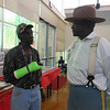 June 19, 2012                      1st Annual Juneteenth Celebration<br />                                             Adam Diaz Senior Center, Phoenix, AZ<br /> <br /> Cmdr Fred Marable (Buffalo Soldier) and guest.