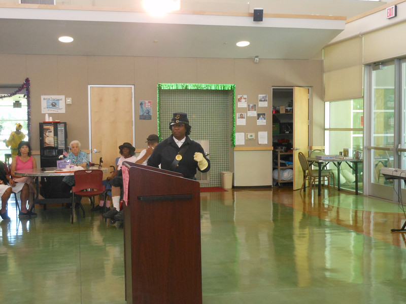 June 19, 2012                      1st Annual Juneteenth Celebration<br />                                               Adam Diaz Senior Center, Phoenix<br /> <br />                       Pvt. Michelle London-Marable, Buffalo Soldier of the Arizona Territory, Mesa.