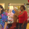 "June 19, 2012                      1st Annual Juneteenth Celebration<br />                                             Adam Diaz Senior Center, Phoenix<br /> <br /> The seniors and guests singing ""America"" with the Buffalo Soldiers of the Arizona Territory."