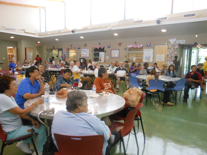 June 19, 2012                    1st Annual Juneteenth Celebration<br />                                              Adam Diaz Senior Center, Phoenix<br /> <br />                         Seniors and guests enjoying and listening to the Buffalo Soldiers presentation by<br />                                   Cmdr Fred Marable and Pvt. Michelle London-Marable<br />                                    Buffalo Soldiers of the Arizona Territory, Mesa, AZ