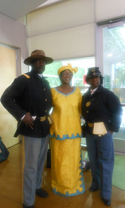 June 19, 2012                        1st Annual Juneteenth Celebration                                                Adam Diaz Senior Center, Phoenix  L/R: Cmdr Fred Marable, Kathy Matthews Event Coordinator and Pvt. Michelle London-Marable, Founders of the Buffalo Soldiers of the Arizona Territory - Ladies and Gentlemen of the Regiment, Mesa, AZ