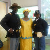 June 19, 2012                        1st Annual Juneteenth Celebration<br />                                                Adam Diaz Senior Center, Phoenix<br /> <br /> L/R: Cmdr Fred Marable, Kathy Matthews Event Coordinator and Pvt. Michelle London-Marable, Founders of the Buffalo Soldiers of the Arizona Territory - Ladies and Gentlemen of the Regiment, Mesa, AZ