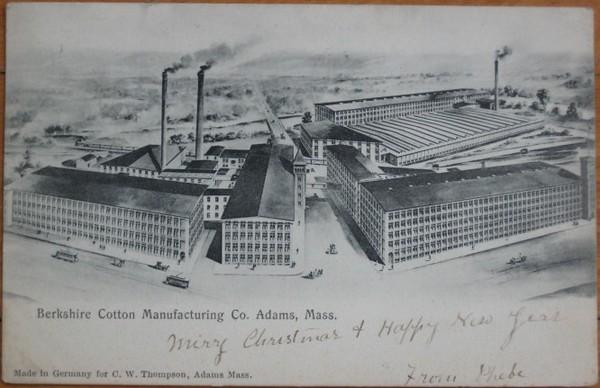 Adams Berkshire Cotton Factory 1905