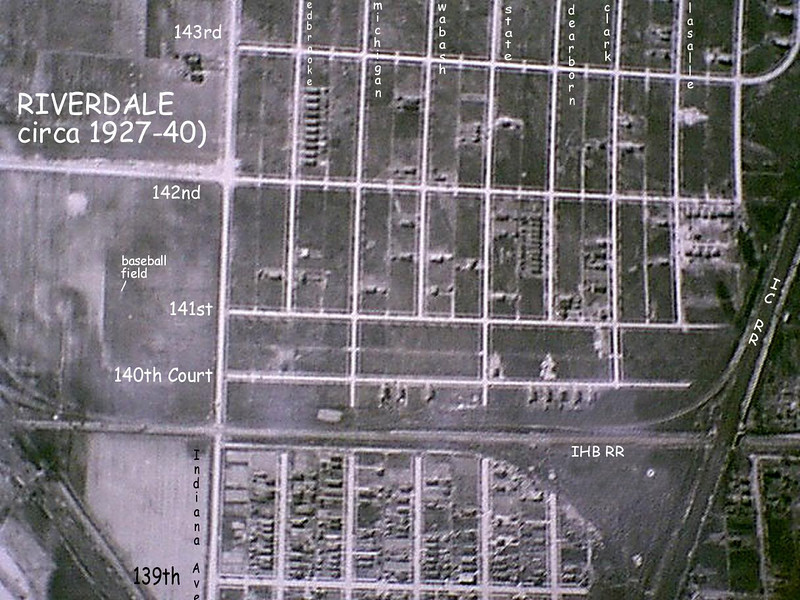 RIVERDALE IL - 139th to 143rd - EAST SIDE OF ICRR C. 1930