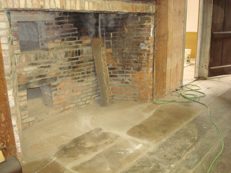 Common Room Walk-in fireplace repaired