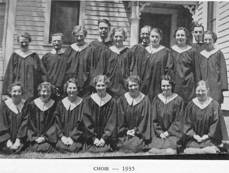Agawam Baptist Chior 1935