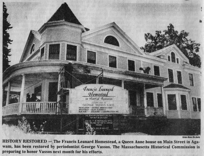 Agawam Francis Leanard Restoration
