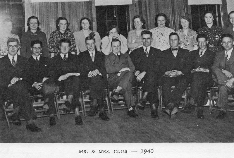 Agawam Baptist Mr & Mrs Club 1940