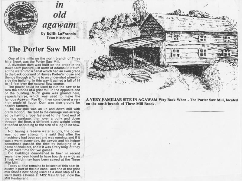 Agawam Porter Saw Mill