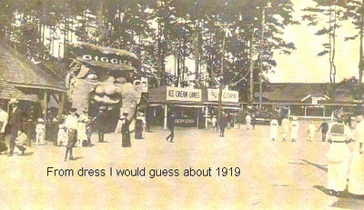 Agawam Riverside park about 1919