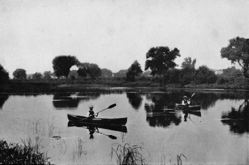 Agawam Canoeing on Agawam 1905