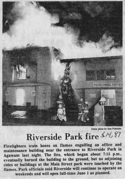 Agawam Riverside Park Fire 5-14-87