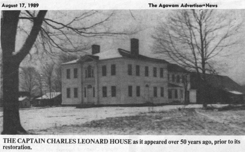 Agawam Capt Leonard House before Restoration
