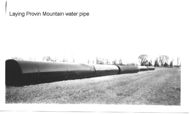 Agawam Provin MT water pipe