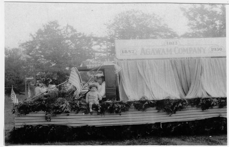Agawam 1930 Parade Ag Co Float