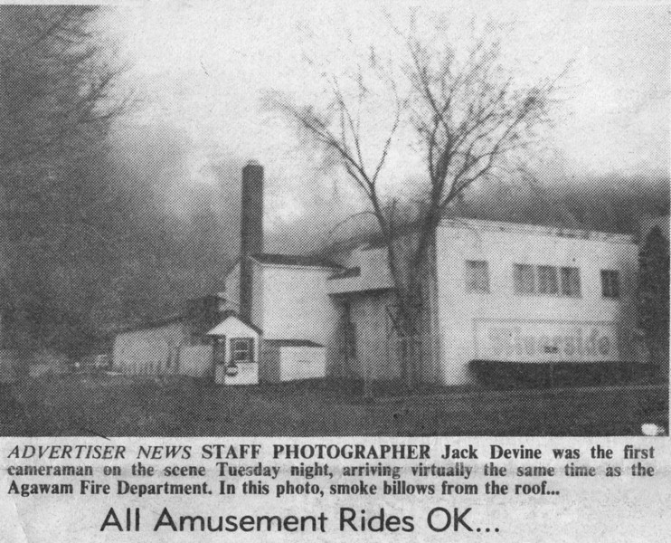 Agawam Riverside Office Burns April 1987