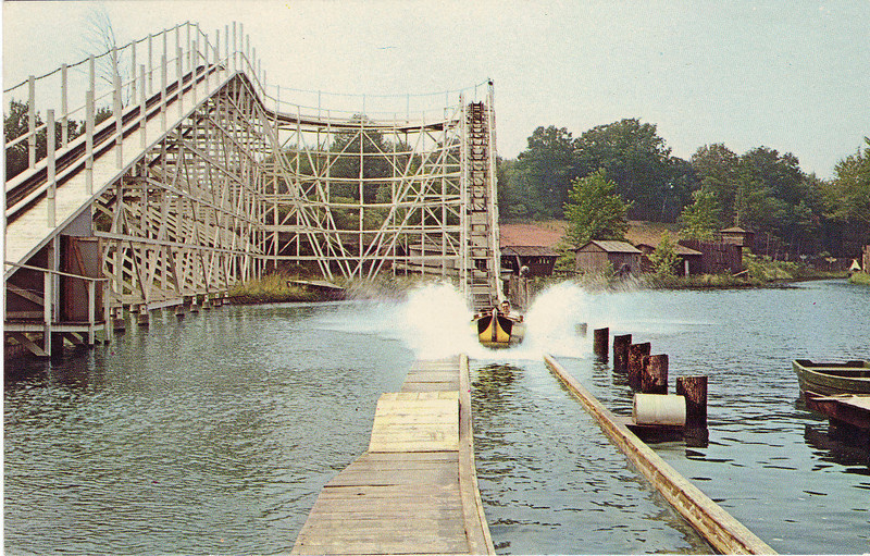 Agawam Riverside Roller Coaster Ride Ends