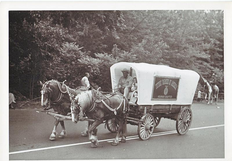 Agawam 1955 Parade Horse Cart 1
