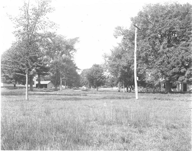 This image of West St (now Elm Street) with the Baptist Church on the left is from the original glass negative that is part of a collection of pictures taken by Rev. Hollis A. Campbell in Agawam and Feeding Hills during 1895 and 1896.  These are the oldest known pictures of Agawam and Feeding Hills.  To see more detail click on the picture and enlarge it.