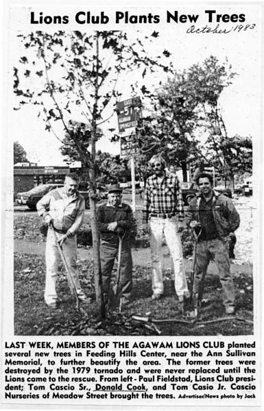 Agawam, Planting Trees Feeding Hills