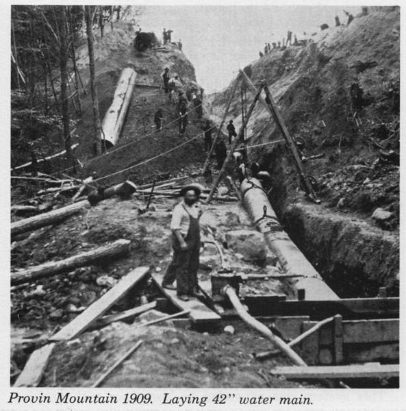 Agawam 1909 laying Pipe Provin Nt