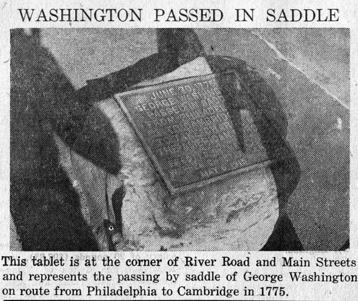 Agawam Washington Plaque I