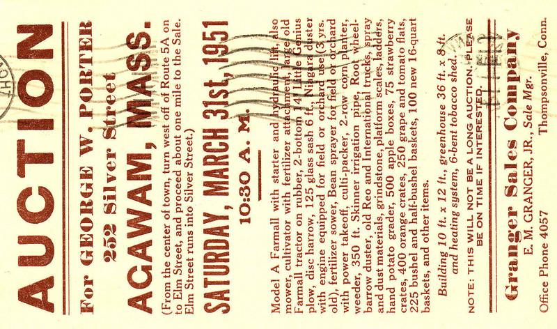 Agawam 1951 Porter Auction