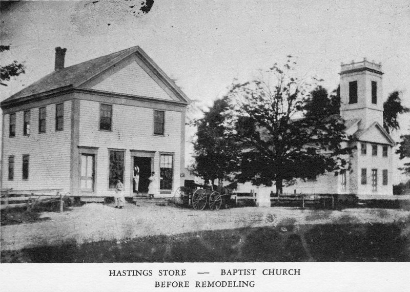Agawam Store & Church before Remodeling
