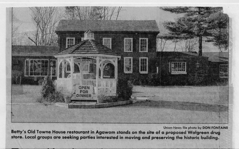 Agawam Betty's Old Towne House