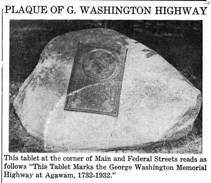 Agawam Washington Plaque 2