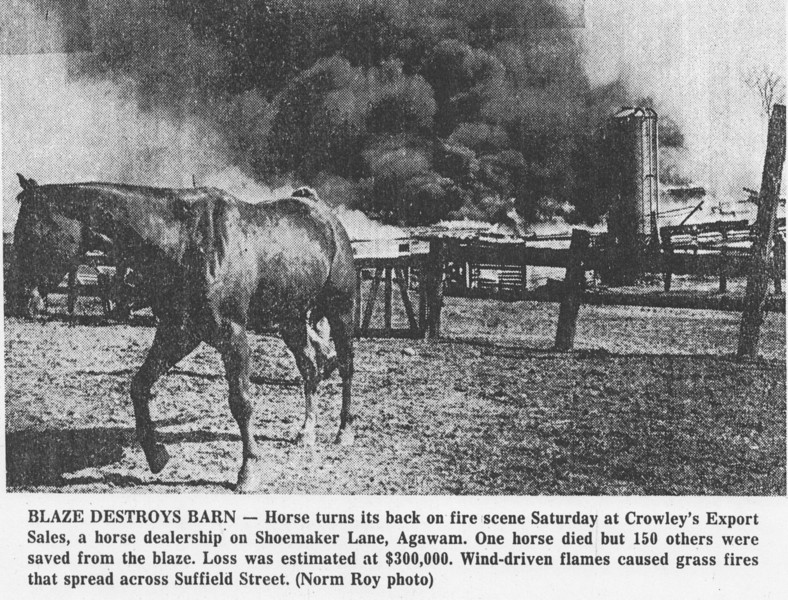 Agawam Crowley Barn Fire 1981