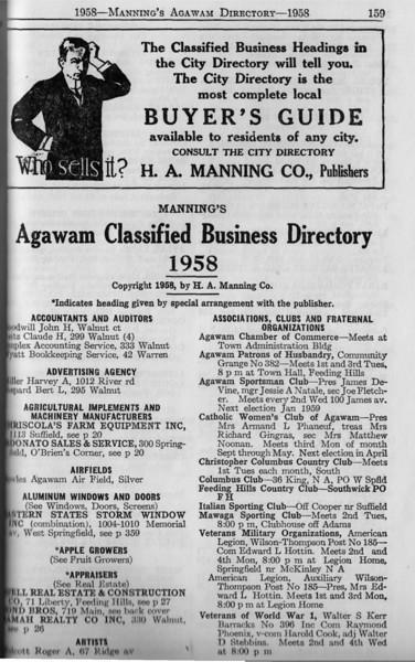 Agawam Bus Directory 1958 01