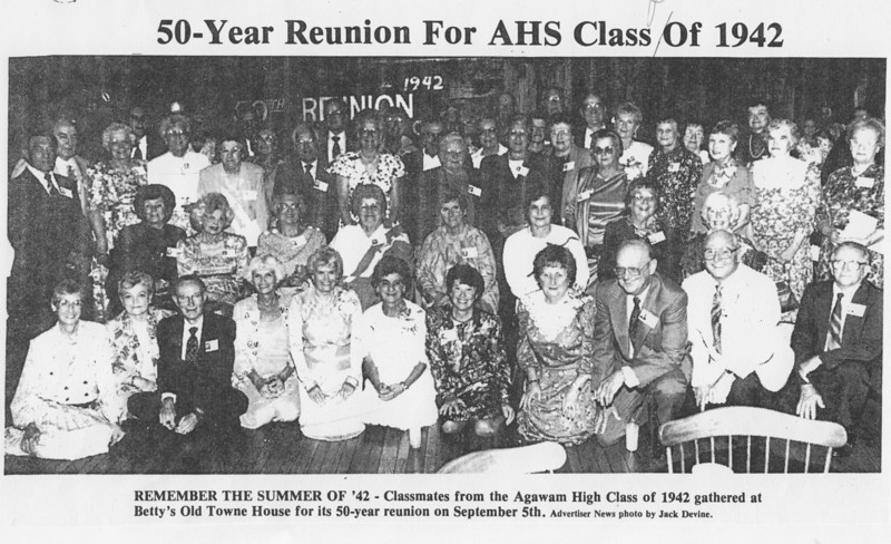 Agawam 50th Reunion Class 42