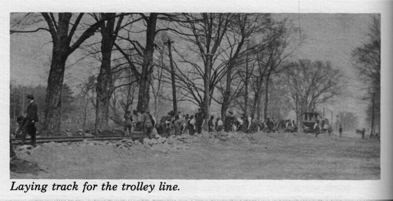 Agawam, Laying Trolley Tracks