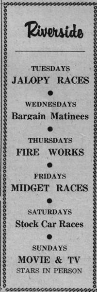 Agawam Riverside Ad June 1955