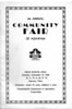 Agawam Community Fair 1936