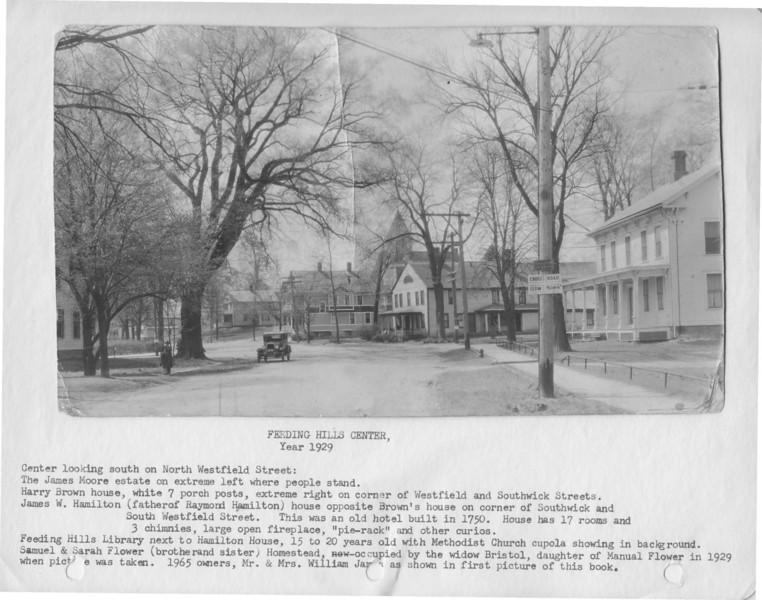 Agawam, Feeding Hills Center 1929