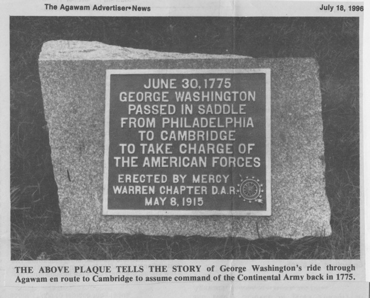 Agawam, Washington Plaque