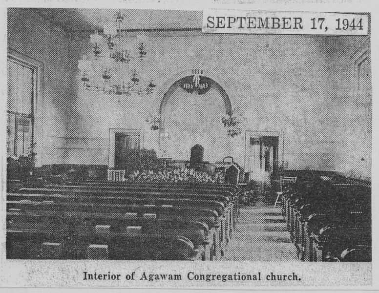 Agawam Interior Old Congregational Church