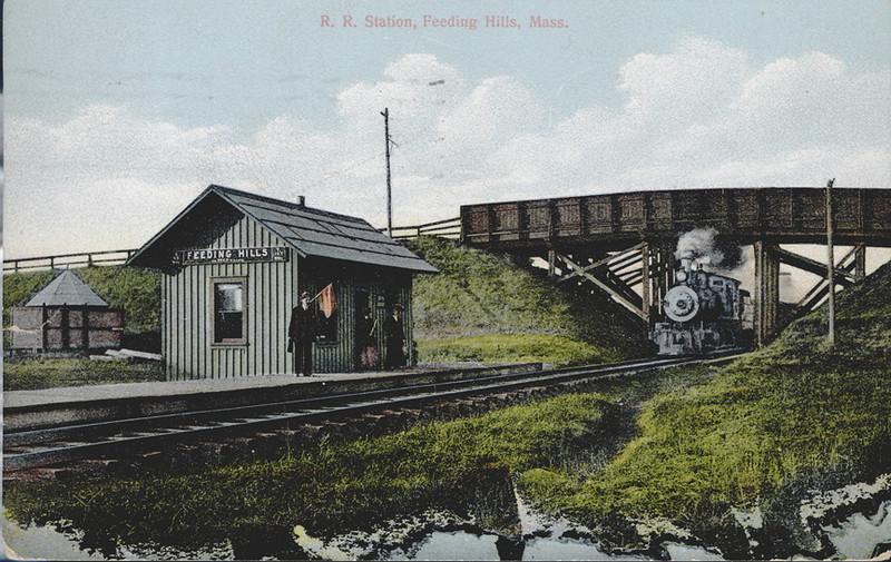 Agawam Feeding Hills RR Station 1911