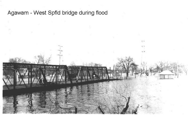 Agawam Bridge during flood