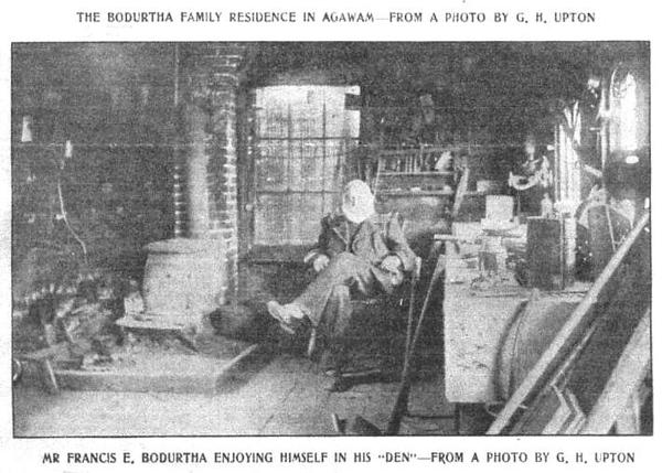 Agawam Mr Bodurtha in His Den