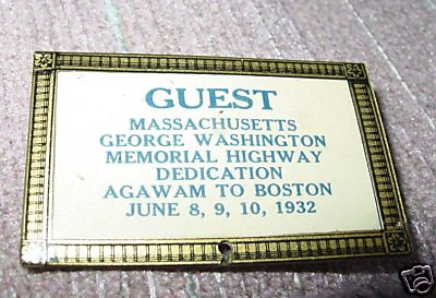 Agawam Guest Pin Dedication 1932