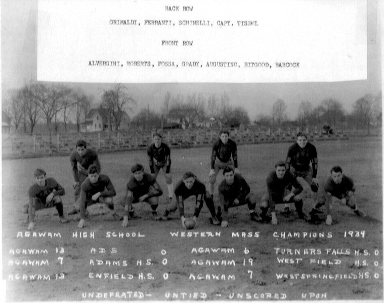 Agawam Undefeated 1934 Team