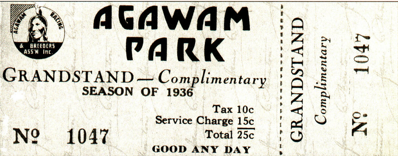 Agawam  Agawam Park Ticket