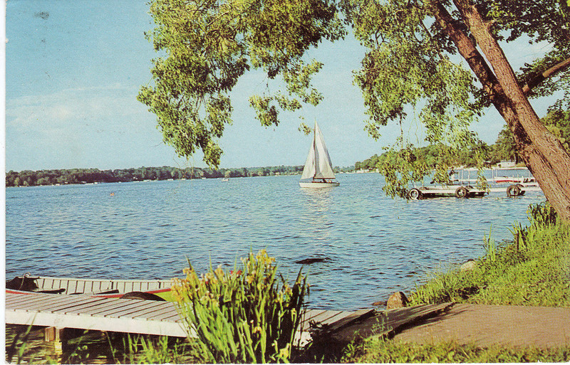 """This image, titled: """"Wish You Were Here"""", is probably taken from one of the Agawam homes that back up to the Connecticut River.  Since you can't see the South End Bridge it is looking South."""