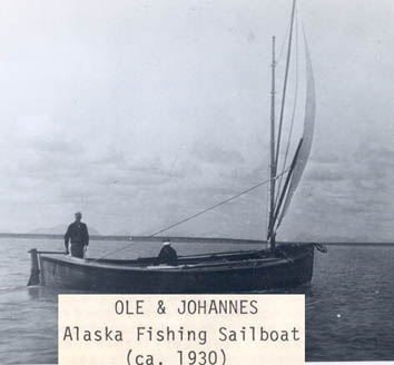 Ole Graning   Johannes Jensen  Brothers 1930 Bristol Bay Alaska