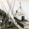 Bristol Bay,Unloading New Monkey Boat Off Steamer,Pic Taken 1940's,